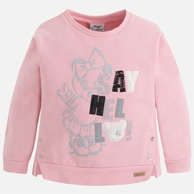 MAYORAL Girl fleece sweatshirt with appliques