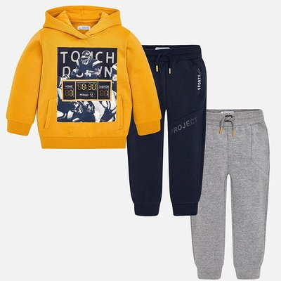 MAYORAL Tracksuit with hoodie and 2 pairs of trousers for boy