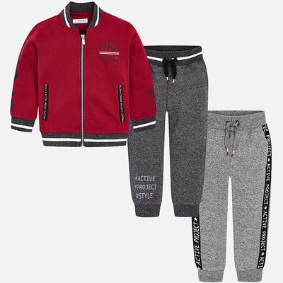 MAYORAL Tracksuit with 2 trousers and baseball jacket