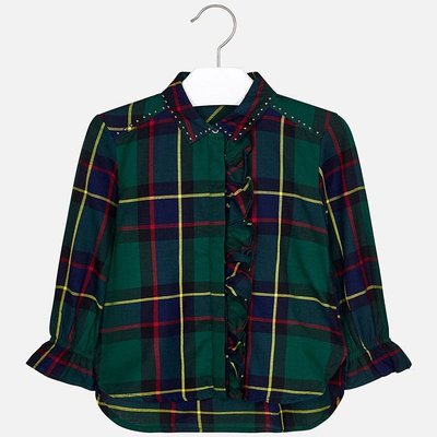MAYORAL Check blouse
