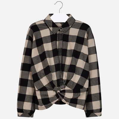 MAYORAL Checked knot blouse for girl