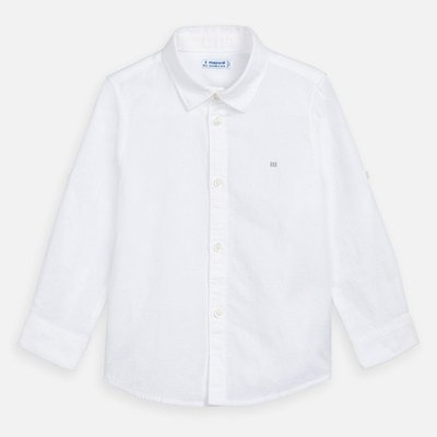 MAYORAL Long sleeved linen shirt for boy