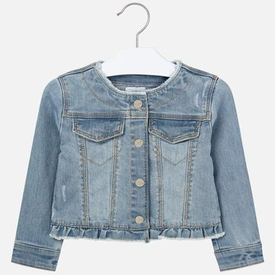 MAYORAL Jean jacket with embroideries for girl