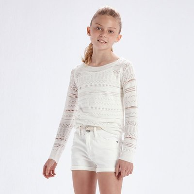 MAYORAL Girl's openwork jumper 6318-51