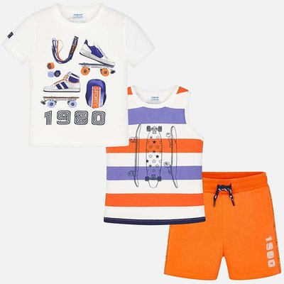 MAYORAL Sporty skate themed set for boy