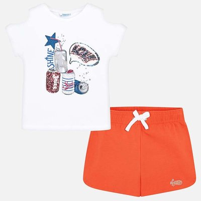MAYORAL Sporty t-shirt and shorts set for girl