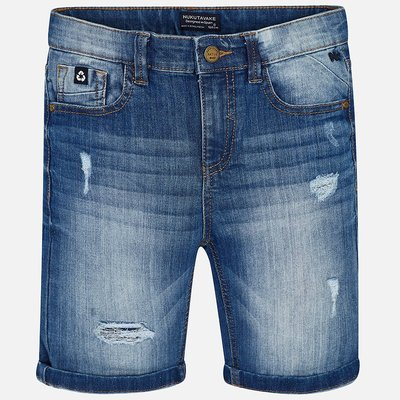 MAYORAL Ripped denim bermuda shorts for boy