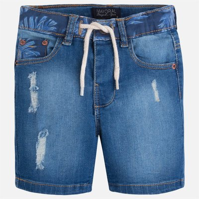 MAYORAL Structured denim shorts