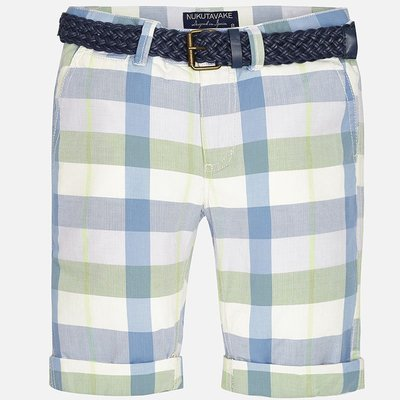 MAYORAL Plaid shorts w/ belt