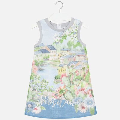 MAYORAL Mesh dress landscape