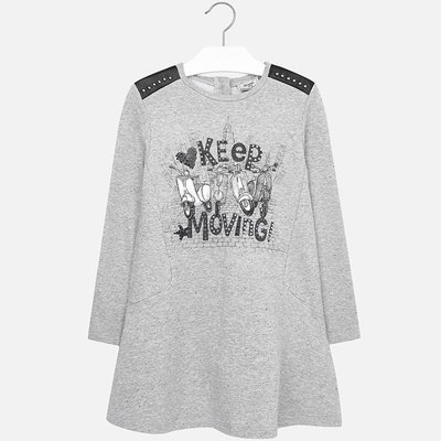 MAYORAL Girl long sleeve fleece dress