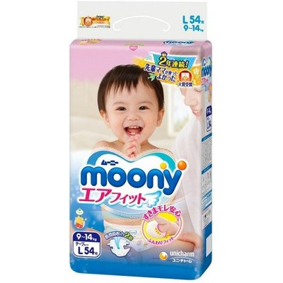 Moony L Diapers 9-14 kg (54 pcs)
