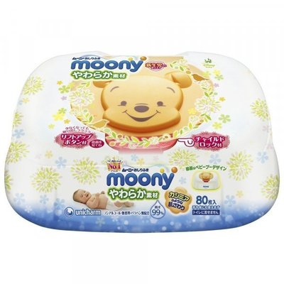 Moony Baby wipes in plastic box (80 psc)