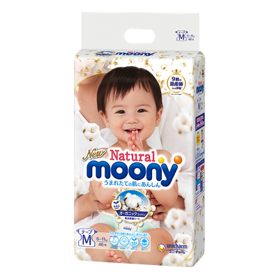 Moony M Natural Diapers 6-11 kg (46 pcs.)